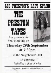The Preston Tapes